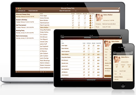 Guest List Organizer for Mac, iPhone, iPad, and iPod Touch