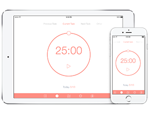 Pomodoro Time for iPhone, iPad and Mac