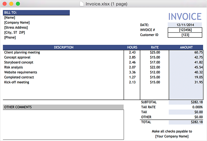 Mac Invoice Boatjeremyeatonco - Invoice generator mac