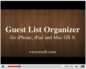 Guest List Organizer Video